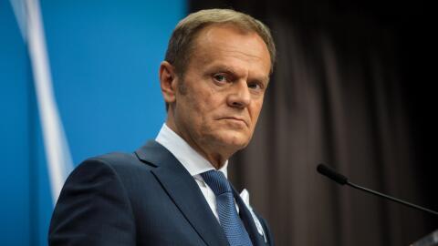 Donald Tusk, presidente del Consejo Europeo, el órgano que define...