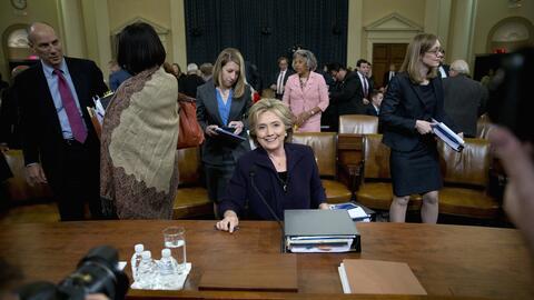 Hillary Clinton durante su comparecencia