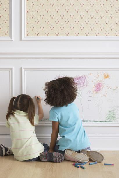 Pintura lavable. Cuando hay niños en el hogar, tarde o temprano las pare...