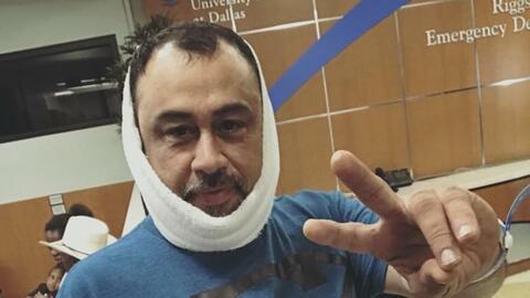 Charlie López, músico de Los Traileros del Norte sufre aparatosa caída d...