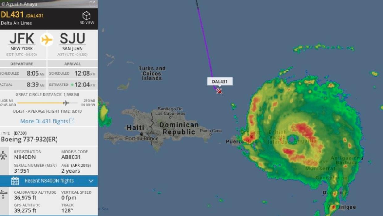Captura de pantalla Flightradar24.com