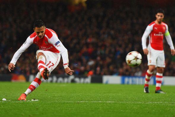 Arsenal ganaba con goles de: Arteta, Alexis Sánchez y Chamberlain. Pero...