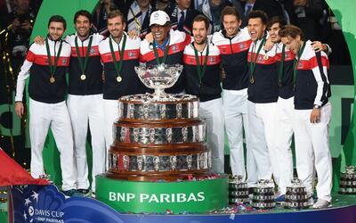 El equipo de Francia ganó este domingo la Copa Davis.