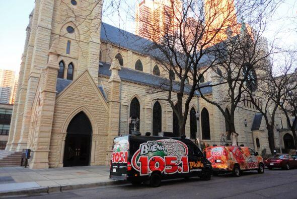 Posada en la Catedral de Chicago.