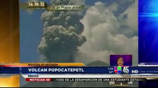 Captado en Video: Erupción del volcán Popocateptl