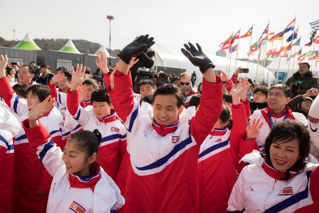 Llegada de Corea del Norte a Pyeongchang 2018 gettyimages-915602464.jpg