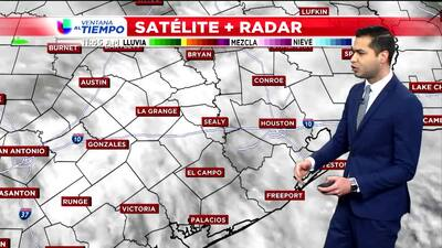 Se avecina un sistema frontal que traerá lluvias al área de Houston a partir de esta noche