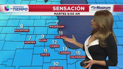 Ventana al Tiempo: Se pronostica descenso en las temperaturas y un día ventoso este martes en Chicago