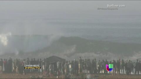 Olas de más de 30 pies de altura causaron furor en las playas de California
