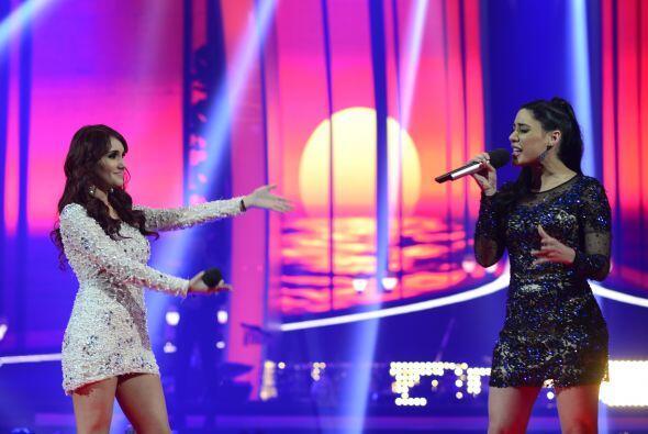 Geissie Torres cantó con su capitana Dulce María en la segunda gala.