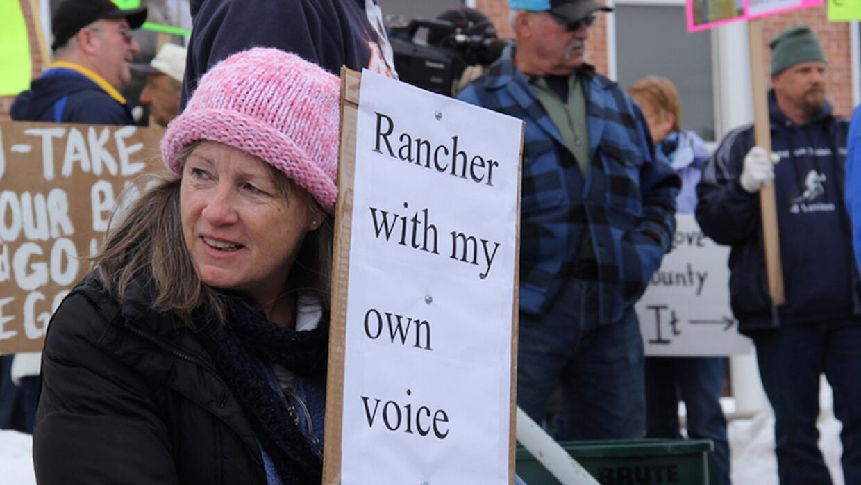 Protestas de vecinos de Oregon por la ocupación del refugio
