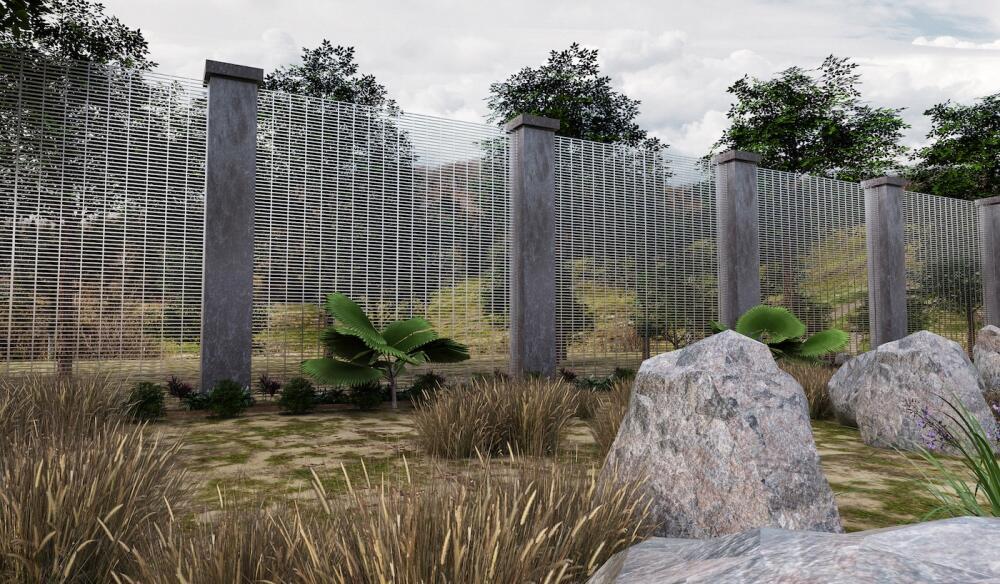 Diseño de armazón ligero a base de concreto premoldeado y malla.