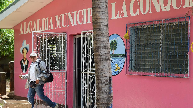 La alcaldía de La Conquista, uno de los municipios nicaragüenses donde s...