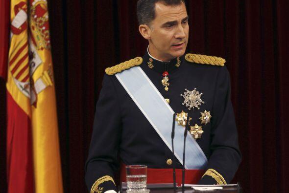 A continuación Felipe VI empezó el discurso inaugural de s...
