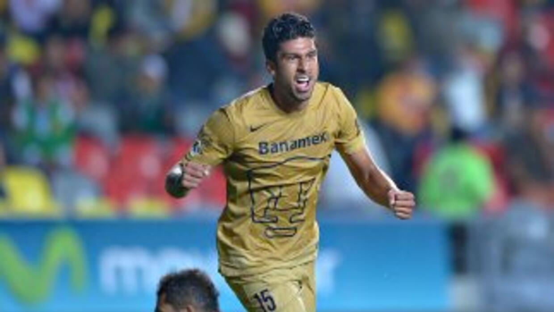 Eduardo Herrera marcó el segundo gol de la victoria de Pumas en el Morelos.