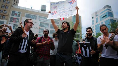 Protesta en Nueva York contra la Junta de Supervisores nombrada por el C...