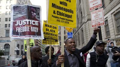 Protestas en Baltimore por caso Freddie Gray