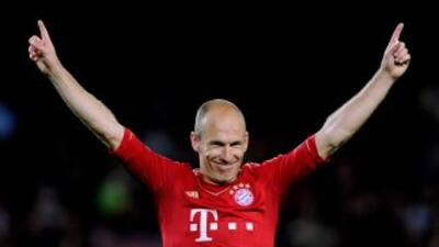 Robben marcó el camino del triunfo con el primer gol del partido.