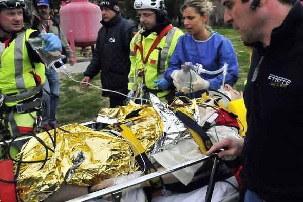 Los rescatistas actuaron rápido para trasladarlo a un hospital cerca de...