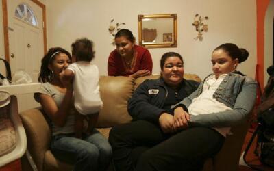 Familia hispana en EEUU.