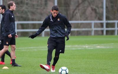 Moreno reapareció con la Real Sociedad.