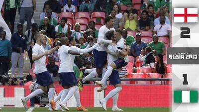 Inglaterra supera a Nigeria con un gran primer tiempo