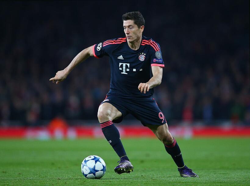 El delantero del FC Bayern Robert Lewandowski está en el quinto l...