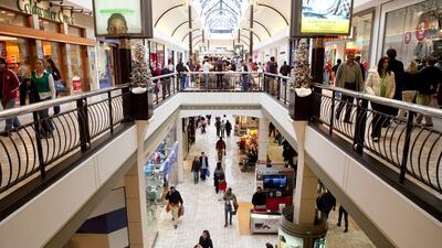 Un mall suburbano en las afueras de Washington DC.
