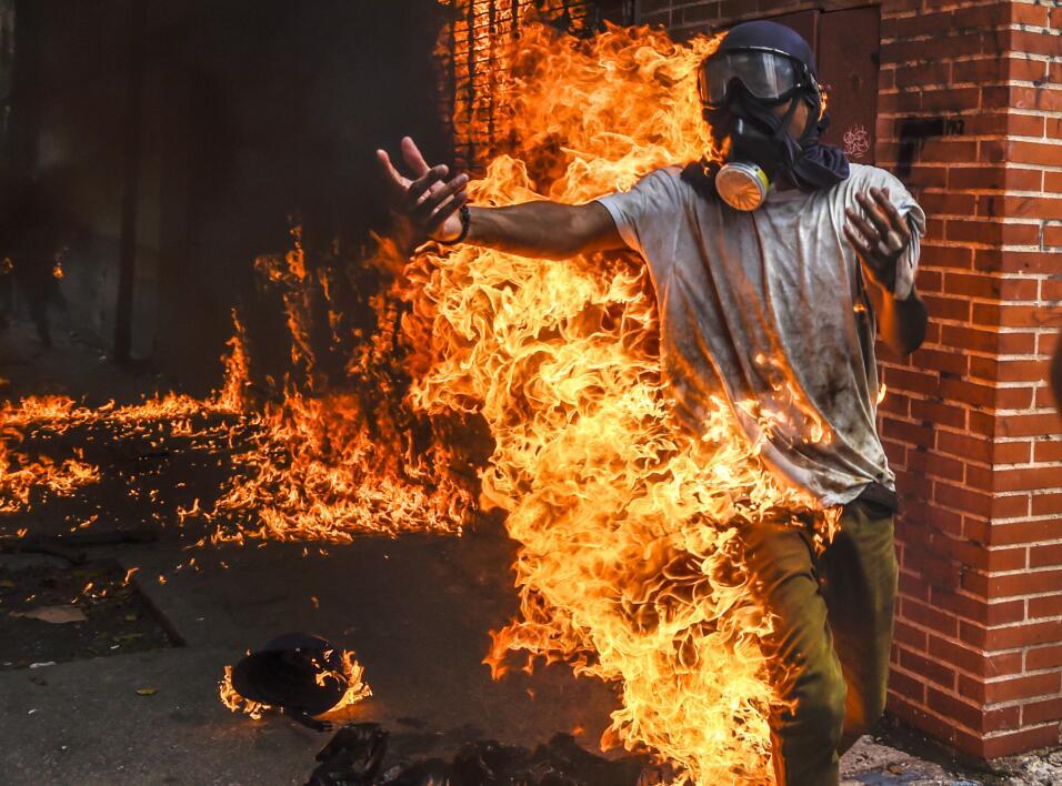 La crisis venezolana. Las protestas callejeras contra el gobierno de Nic...