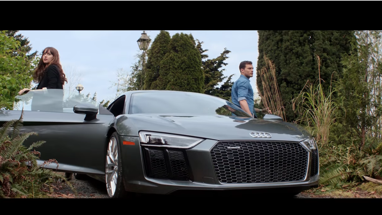New Fifty Shades Trailer Is Released Hot FM Univision - Audi car in 50 shades of grey