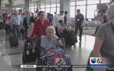 Veteranas texanas visitan Washington