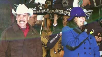 Don Pedro Rivera y Doña Rosa llegaron a la serenata de Lupillo en Iturbide