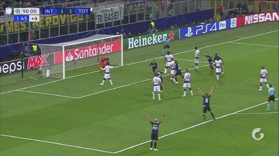 Increíble: Vecino marca sobre la hora y le da la victoria al Inter