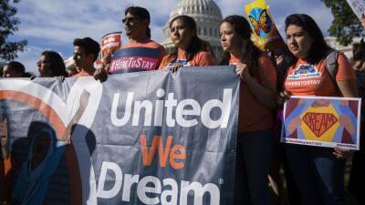Protesta de un grupo de dreamers en frente del Capitolio en Washington e...