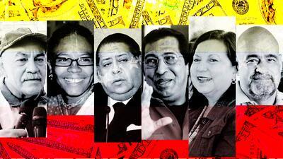 De izquierda a derecha, los funcionarios venezolanos Darío Vivas, Érika...