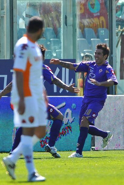 El rumano Adrián Mutu puso en ventaja al equipo 'viola'.