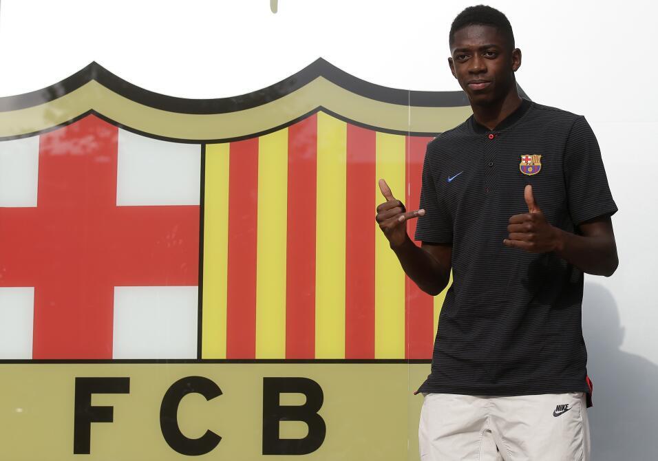 Ousmane Dembélé vuelve a los entrenamientos con Barcelona AP_17239618188...