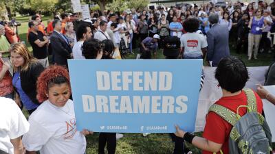 """""""Defiendan a los dreamers"""". El lema que partidarios de los der..."""
