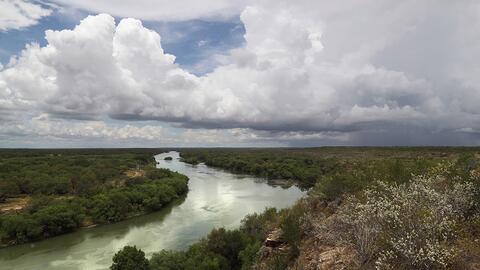 Una parte del Río Grande en Roma, Texas.