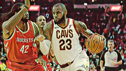James Harden recibe a LeBron James en Houston.
