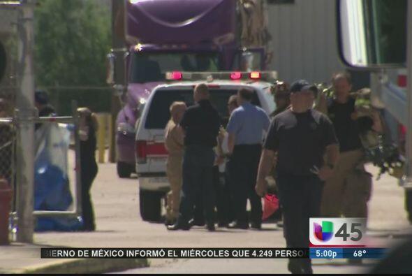 Momentos de pánico vivieron los trabajadores de una fábrica en Houston d...
