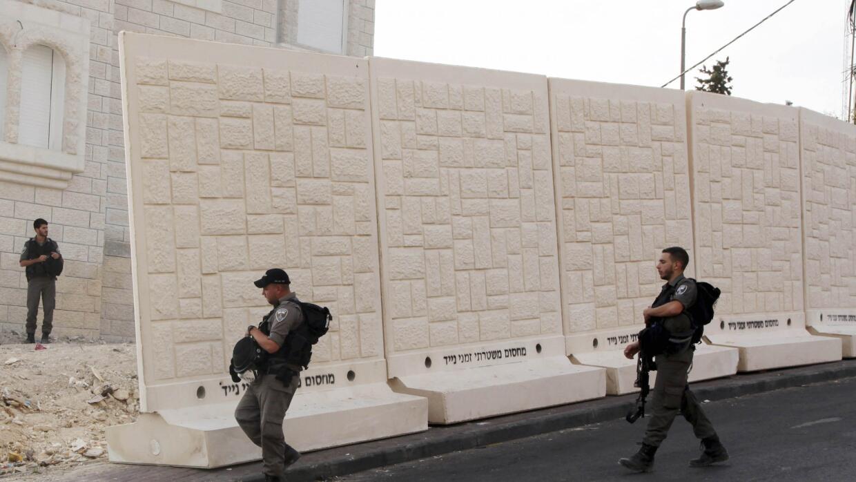 Levantan un muro en Jesusalén Este