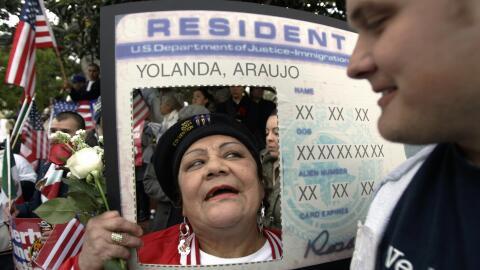 Manifestación proinmigrante en Los Ángeles ocurrida el 10 de abril de 2006.