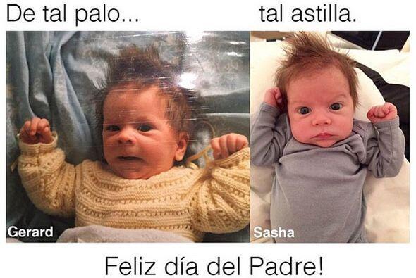 La colombiana compartió en sus redes sociales una foto de su hijo Sasha...