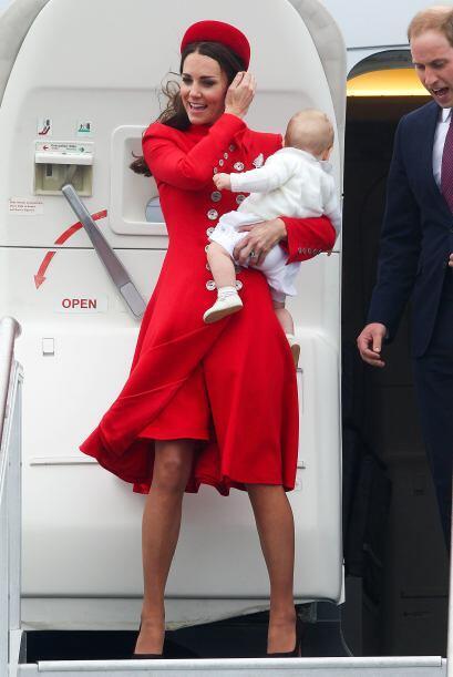 A su llegada a Nueva Zelanda, el clima le jugó mala jugada a la Duquesa...