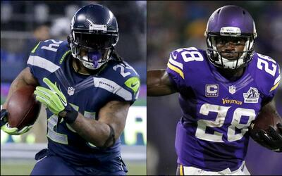 Marshawn Lynch vs. Adrian Peterson:¿Quién tendrá mayor impacto?