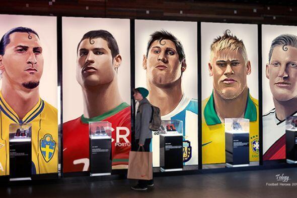 El artista egipcio Mohamed Tobgy, dibujó a los cracks de fútbol mundial...