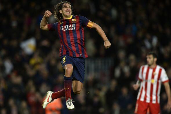 El eterno capitán de los catalanes apareció en el momento y lugar indica...