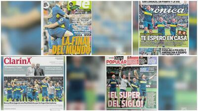 Así titularon los diarios argentinos la tremenda batalla que se vendrá en la Copa Libertadores