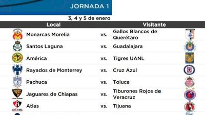 El Torneo Clausura 2014 se jugará del 4 de enero al 18 de mayo cuando se...